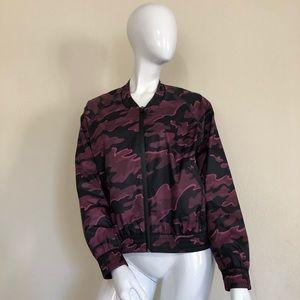 IVY PARK Camo Print Woven Bomber Jacket